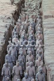 burried terracotta warriors in xi an china