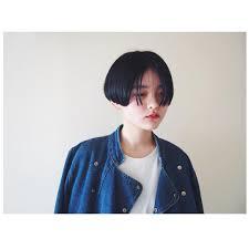ワンレングスの黒髪ショート Hairstyle Shorthair 黒髪ショート