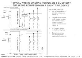 shunt trip device wiring diagram wiring diagram shunt trip wiring diagram square d auto