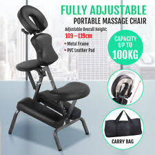 massage chair ebay. portable pu leather pad travel massage tattoo spa chair w/ carrying bag black hm ebay