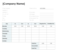 Printable Time Sheet Forms Employee Excel Free Statement Account