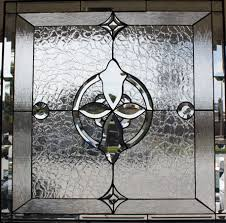 geometric and clear beveled glass