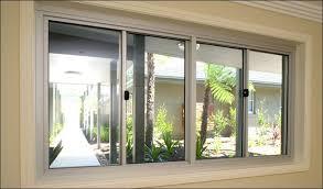 aluminium frame with double glass sliding window