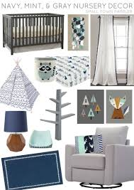 navy mint and gray nursery decor from tar the land of nod layla grayce and