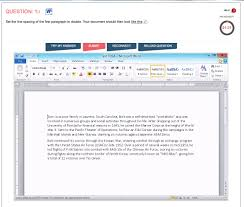 microsoft word 2010 sment test sample question
