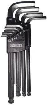 """<b>Набор шестигранников Г-образных</b> """"Berger"""" с шаровым ..."""