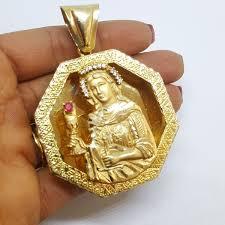 14k yellow gold santa barbara pendant 37 2g