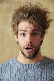 男ハンサムなひげを生やした男性ひげまたはセクシーな白人はベージュ