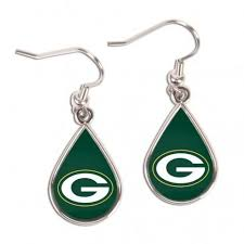 NFL Green Bay Packers Ladies Green Tear Drop Earrings | Teardrop earrings,  Dangle drop earrings, Drop earrings