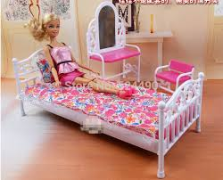 new 2014 doll furniture children baby toys girls birthday gift princess mirror bed set bedroom accessories bedroom furniture barbie ken