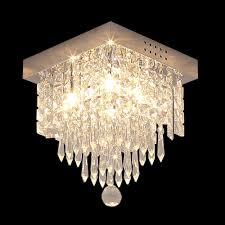 Glighone Kronleuchter Led Kristall Deckenlampe Deckenleuchte