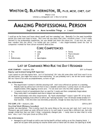 Resume Template Good Qualities For A List Skills On Examples With