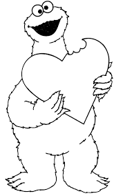 Valentine S Day Cookie Monster Coloring Pages Coloring Pages