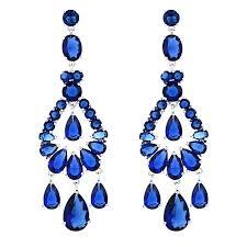 long chandelier earrings crystal chandelier big long fashion jewelry wedding clear royal blue chandelier earrings for