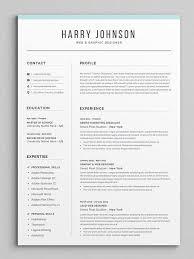 Modern Looking Resume Template Resume Template Modern Professional Resume Template For