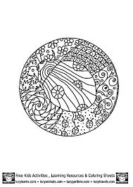 Small Picture Ladybug Coloring Pages Detailed Coloring Pages Mandala 3