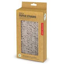 amazoncom kikkerland biodegradable paper straws birch box of