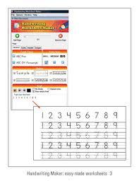 Handwriting Worksheets Maker Fonts4teachers Handwriting Worksheet Maker Dots Arrows Lines