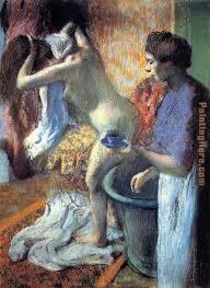 breakfast after the bath ii painting edgar degas breakfast after the bath ii art painting
