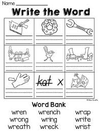 Word beginning and ending worksheets. Wr Kn Gn Silent Letters Worksheets And Reading Activities Over 70 Fun No Prep Printables To Practice Silen Letter Worksheets Phonics Worksheets Phonics Blends