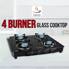 gesto 4 burner glass cooktop at best in india on naaptol com