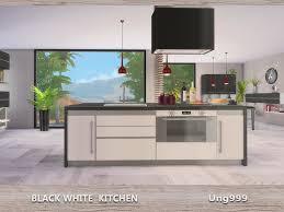 sims 4 kitchen design. black white kitchen sims 4 design e