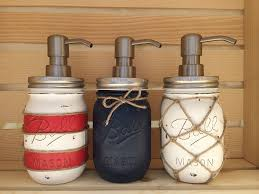 Mason Jar Bathroom Accessories Choose 1 Mason Jar Soap Dispenser Nautical Nautical Decor