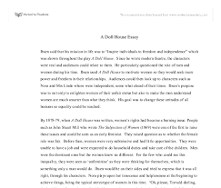 a doll house essay gcse english marked by teachers com document image preview