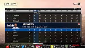 Madden 18 Best Seahawks Depth Chart Setup Full Roster Breakdown In M18