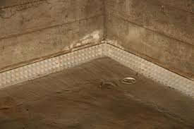 image of french drains in basement