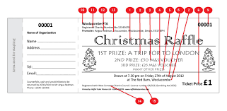 christmas ticket raffle ticket printers christmas design raffle ticket