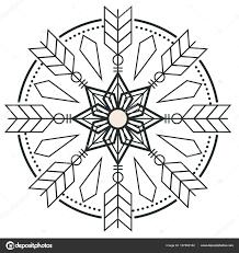 Kreis Pfeil Design Tattoo Vektor Bild Stockvektor