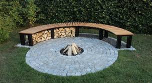 awesome outdoor fire pit benches curved fire pit bench fire pit design ideas regarding curved outdoor bench