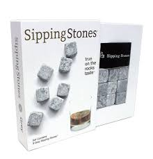 whisky chilling rocks in gift box