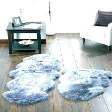 gray faux fur rug grey image gallery of