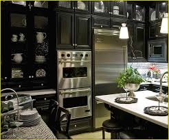 black and stainless steel kitchen appliances