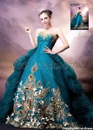 blue and gold luxury gothic wedding dress 1st dress com