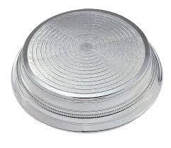 round plastic cake stand silver 355mm
