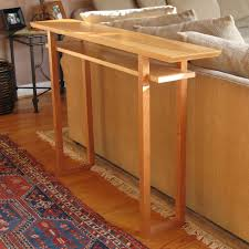 narrow sofa table. A Narrow Sofa Table Handmade From Tiger Maple And Cherry- Console Table/ Side