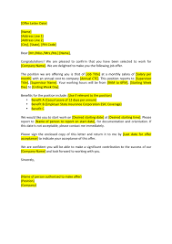 Job Offer Letter Template In Word And Pdf Formats