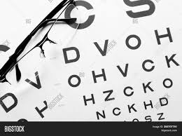 Photography Test Chart Eye Glasses On Image Photo Free Trial Bigstock