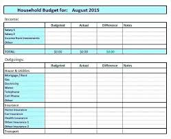 Excel Home Budget Template Ms Excel Budget Spreadsheet