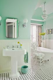 House of Turquoise: Anna Forkum I love the fresh wall color (Benjamin Moore  Spirit in the Sky *mint green bathroom