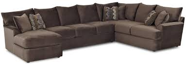 ... L Shaped Sectional Sofa Dark Colored Sofas Six Pillows With Chaise  Softly Simple Design And Modern ...