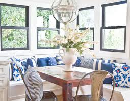 breakfast room banquette pillows breakfast room banquette pillows breakfast room banquette blue and white