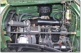flat head engines plymouth dodge desoto chrysler six and eight 1945 Chrysler Windsor straight six engine