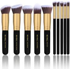 bs mall 10pcs golden black makeup brush set