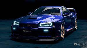 This model has intimidating xenon lighting kit, slammed suspension, cambered extremely high quality wheels, incredibly detailed interior, titanium polished steering wheel, nitrous tanks, detailed twin turbo rb 26 swapped engine, low profile spoiler. R34 Nissan Gt R Looks Like A Nismo Supercar In Glossy Widebody Rendering Autoevolution