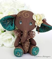 10 06 2016 Работа дня Текстильная игрушка Слоник chocolate Стильный и трогательный шоколадно