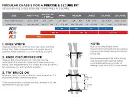 Pod Size Chart Pod Mx K4 Knee Brace Pair